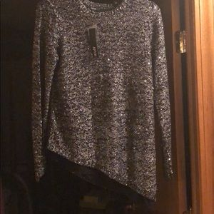 Sparkle black/silver sweater